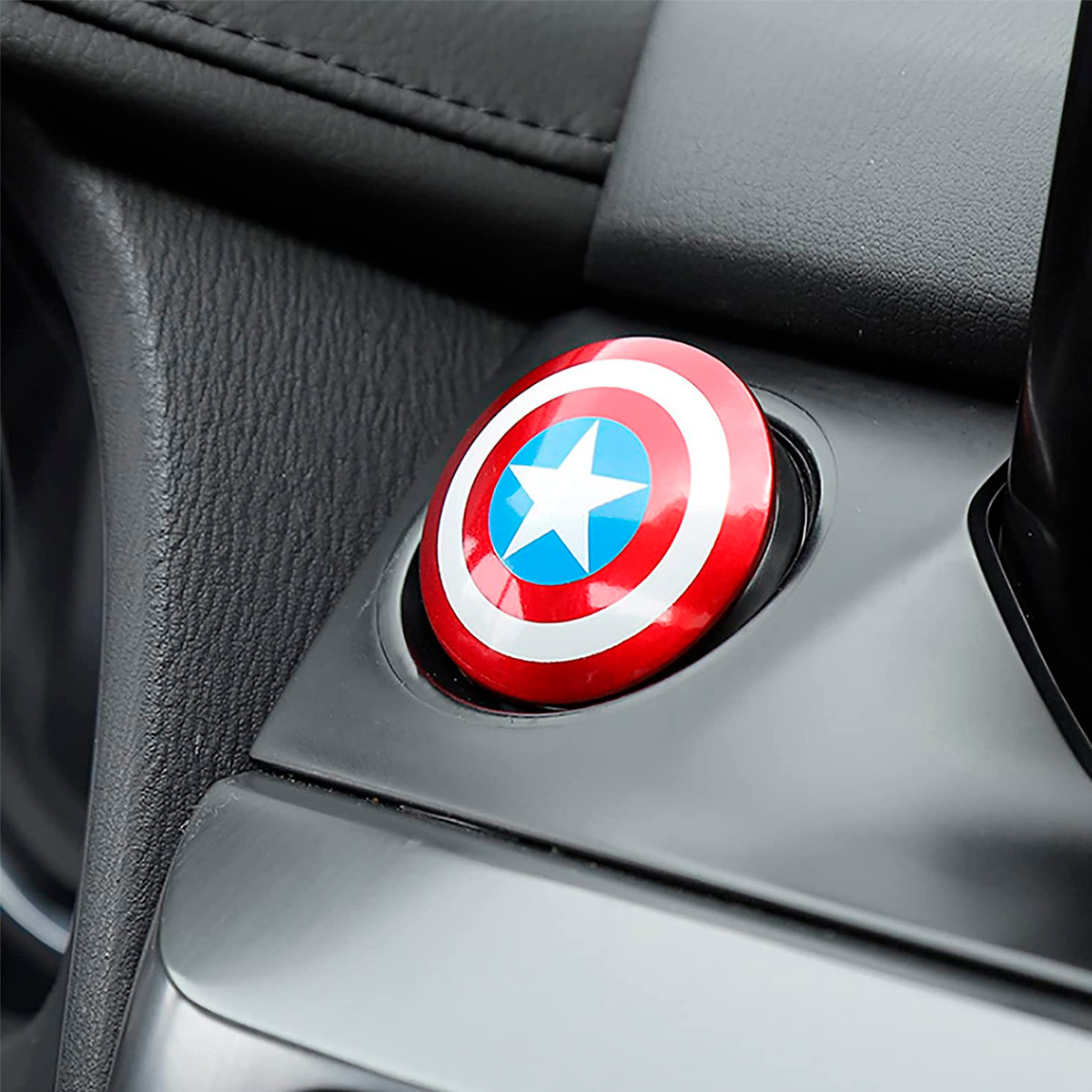 Protector Para Botón Encendido Capitán América Plastico