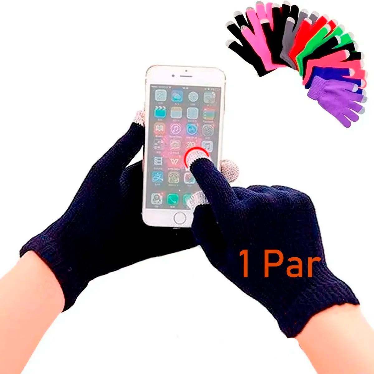 Guantes De Lana Tejido Touch Tablet Celular Invierno Colores