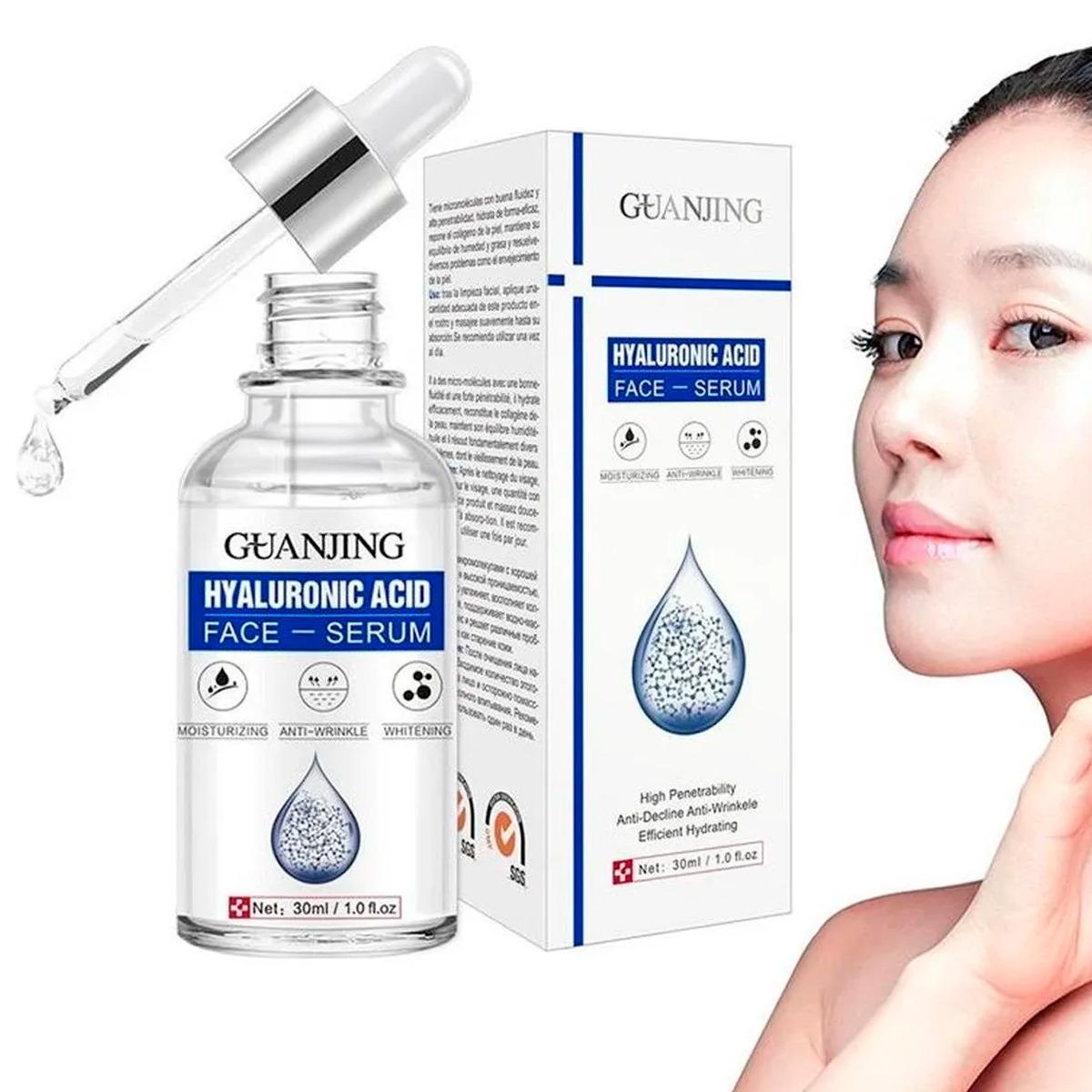 Suero Facial Natural Vitamina C Y E Acido Hialurónico Serum