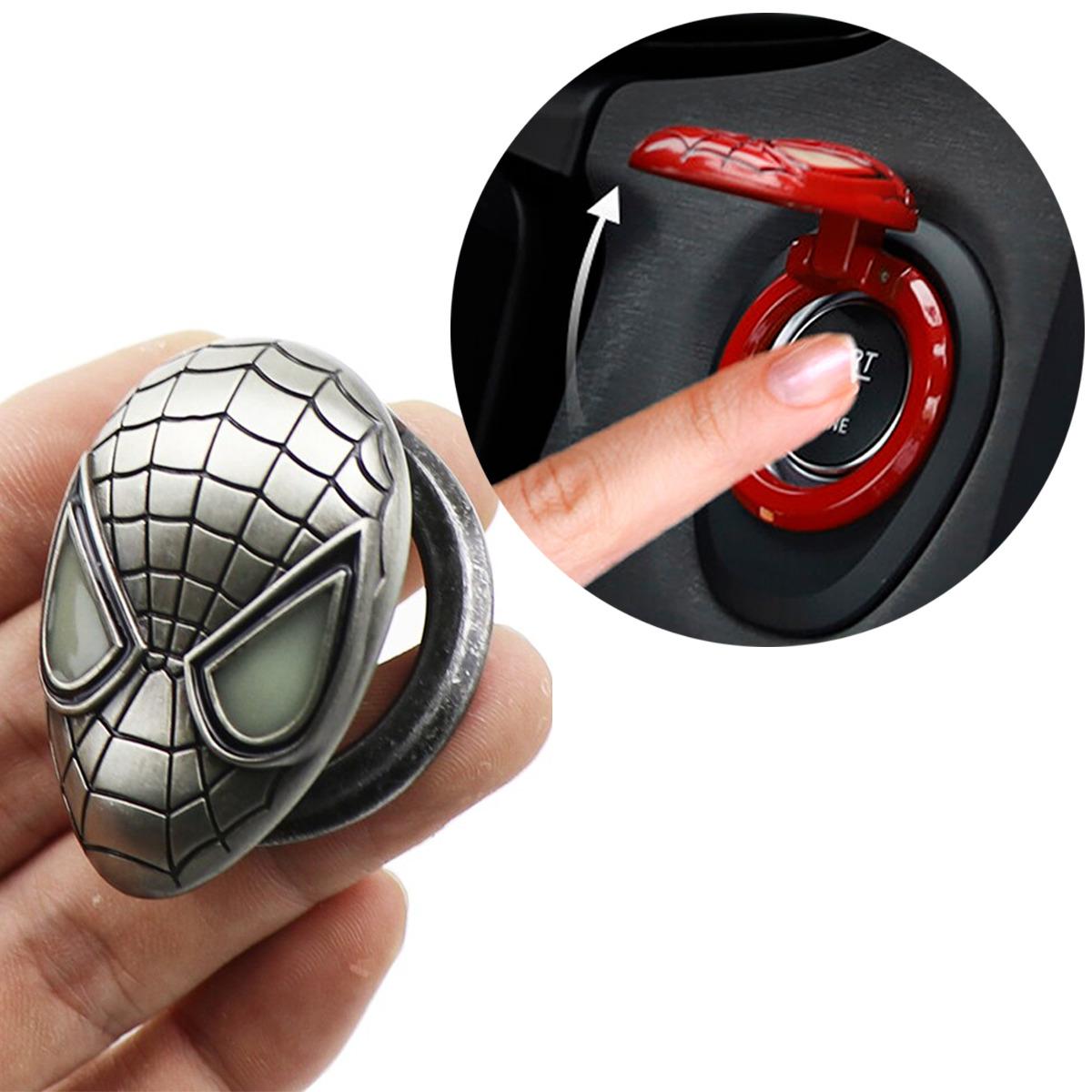 Protector Para Botón Encendido Spiderman Acero