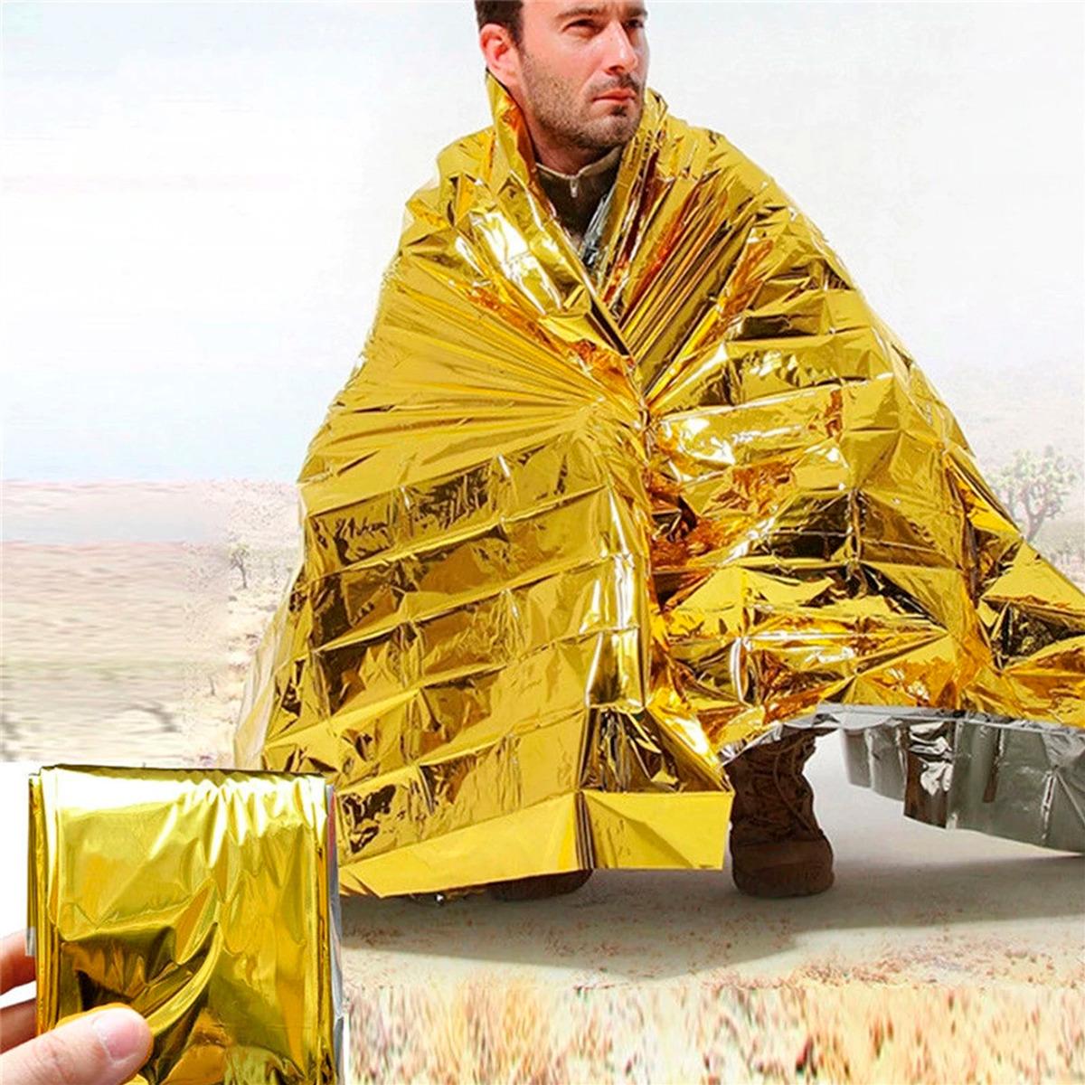 Manta Térmica Supervivencia Emergencia Impermeable Camping