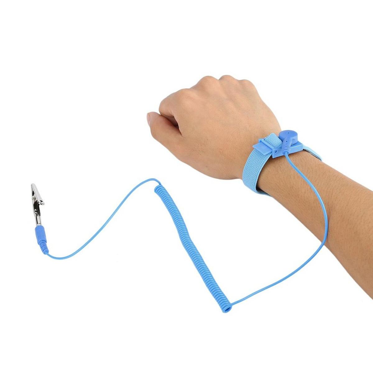 Pulsera Antiestática Con Cable Protección Evita Descargas