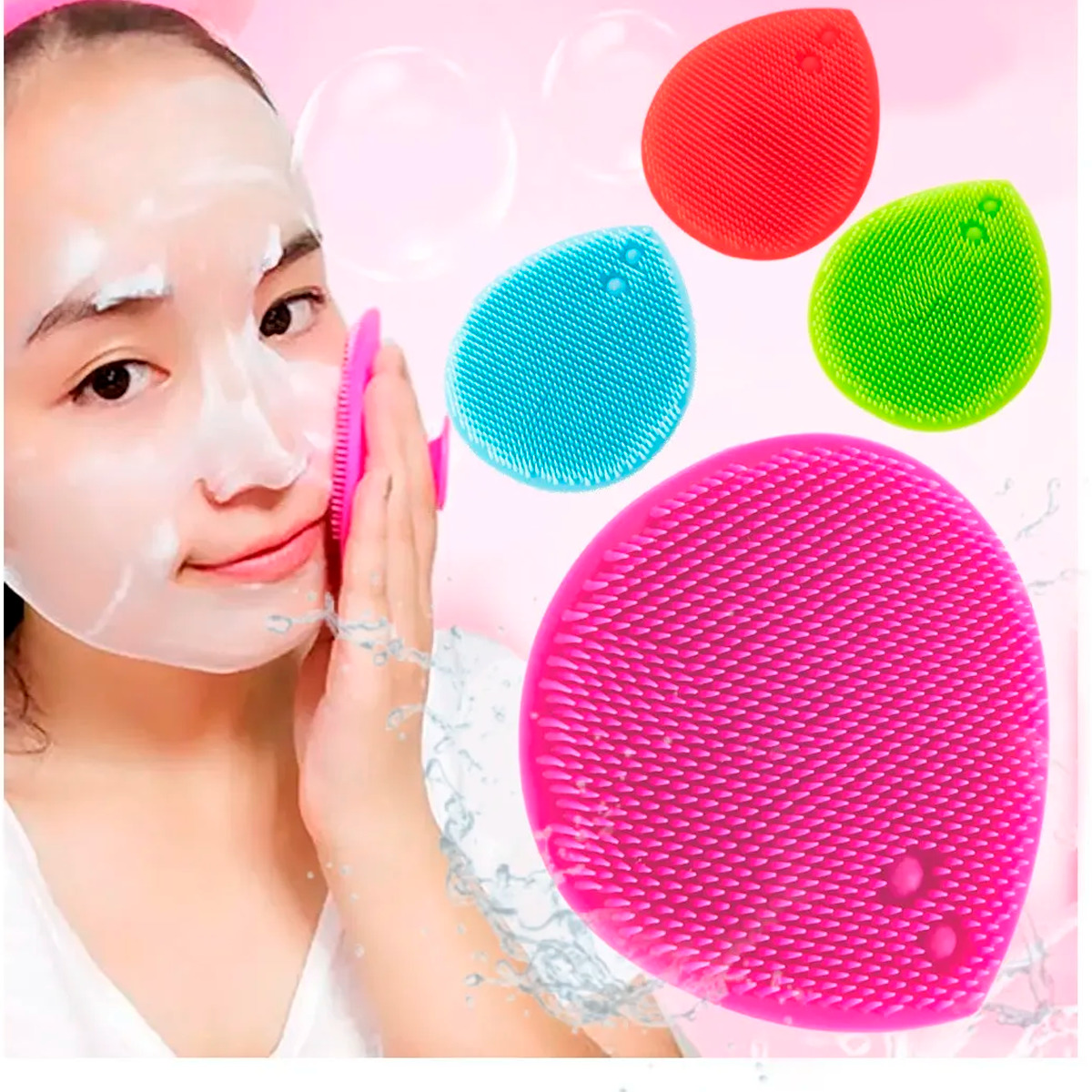 Cepillo Facial De Silicón Exfoliante Limpiador