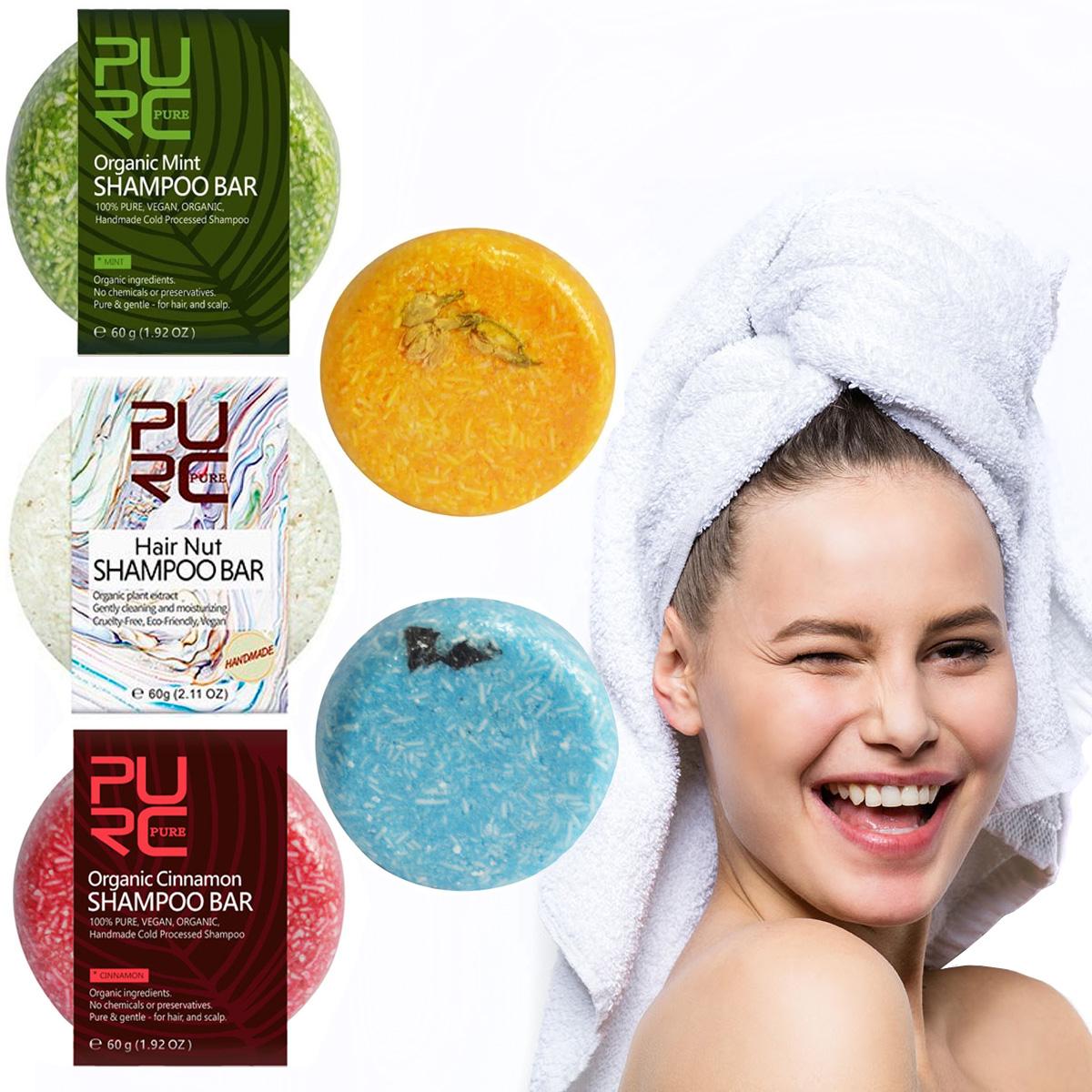 Shampoo Orgánico En Barra Artesanal Rinde Más Lavadas Pure