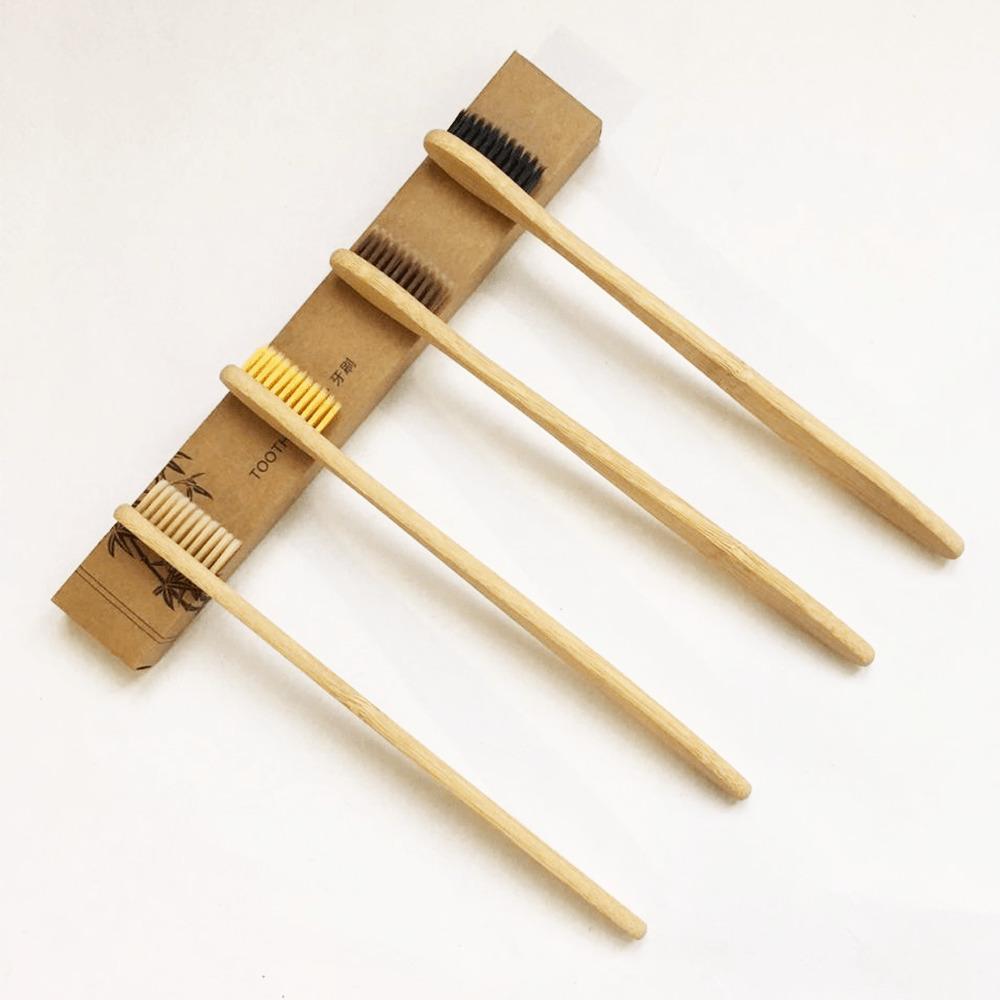 Cepillo De Dientes Bambú Ecológico Con Caja 1pz