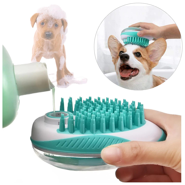 Cepillo Dispensador De Jabón Para Baño Mascotas Perros Gatos