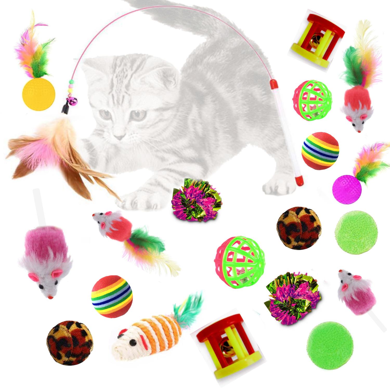 Kit Con 20 Juguetes Para Gatos Interactivo Diferentes Diseños