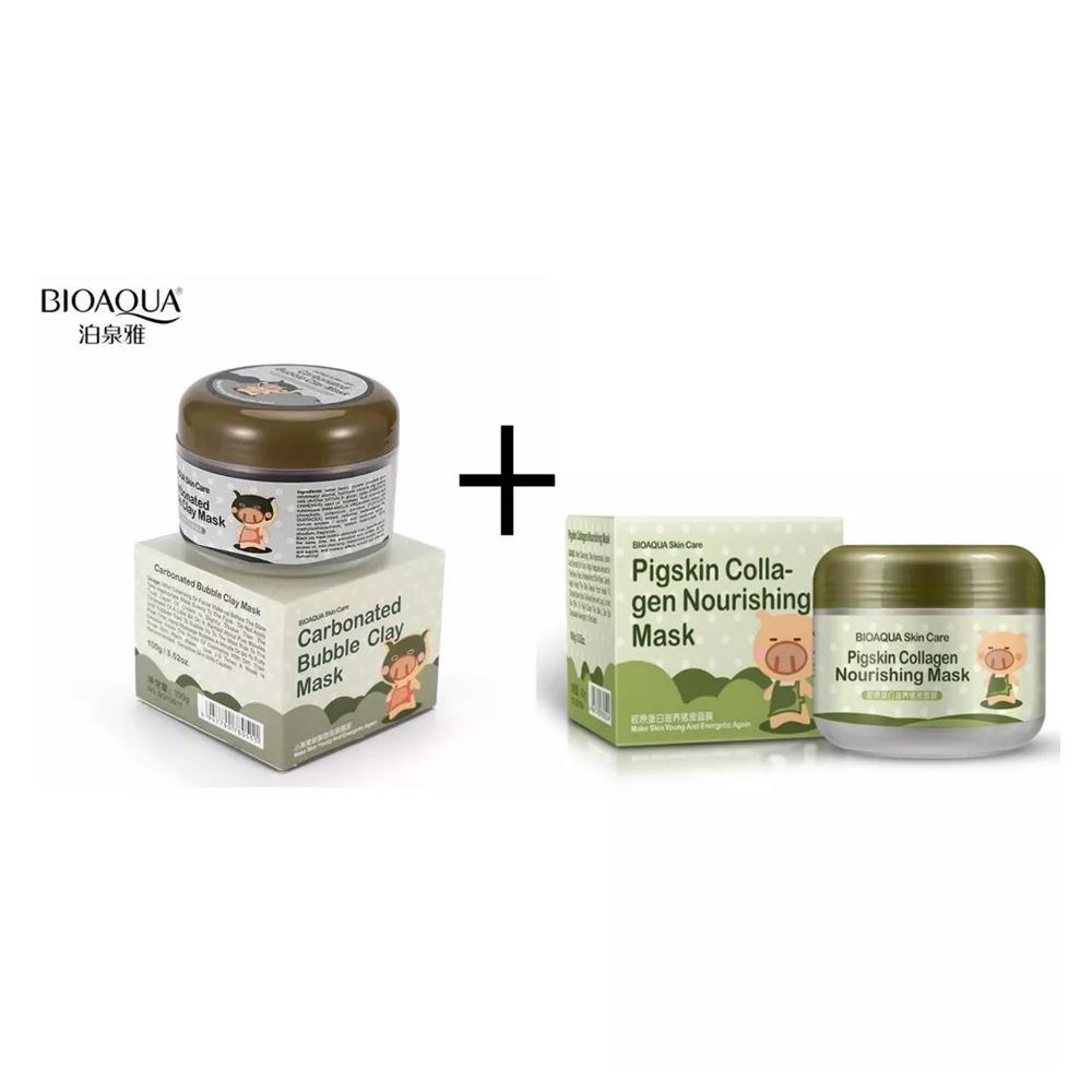 Paquete Bioaqua Pigskin Colageno Y Carbonated Mascara 2pz