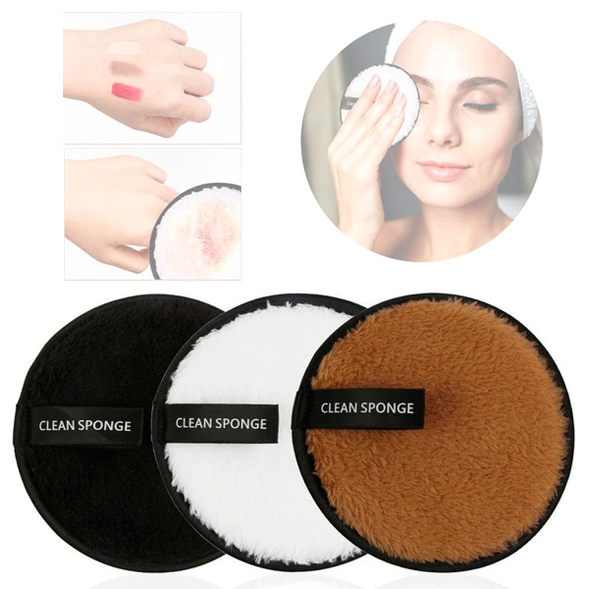 Set 4 Almohadillas Limpieza Facial Doble Cara Lavable