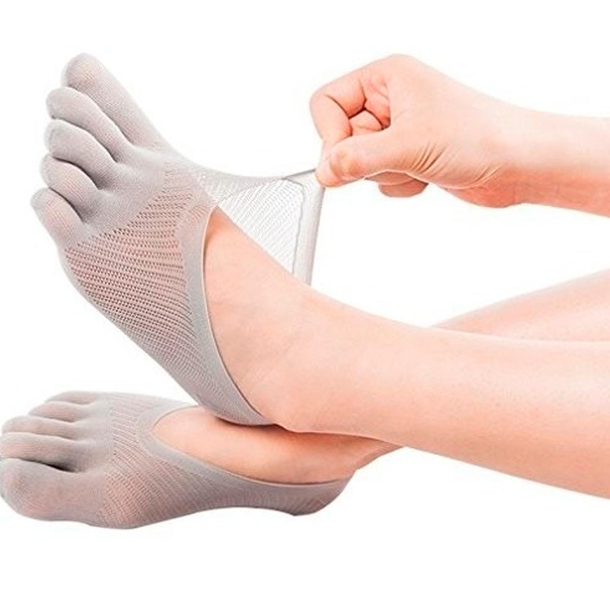 Calcetines Protectores De Pie Medias Para Dedos Del Pie Transpirable Y Discreto