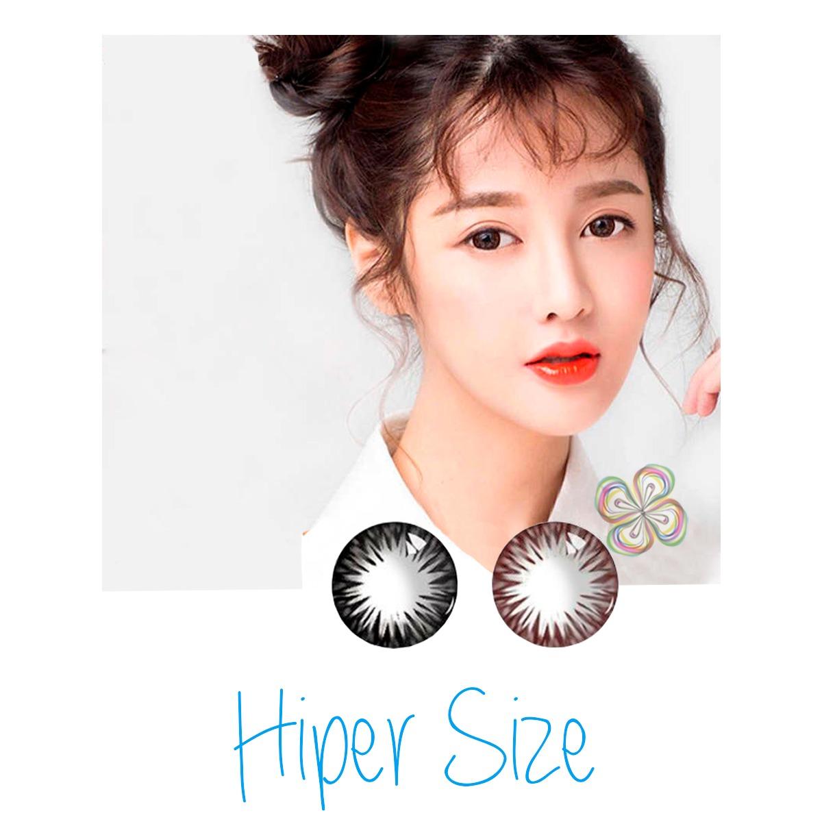 Pupilentes Hiper Size De Lujo Colores Naturales 14.5mm + Estuche