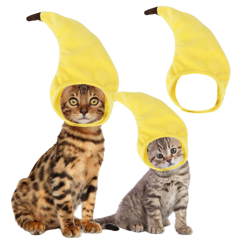 Gorro De Banana Para Gato Divertido Disfraz Ajustable