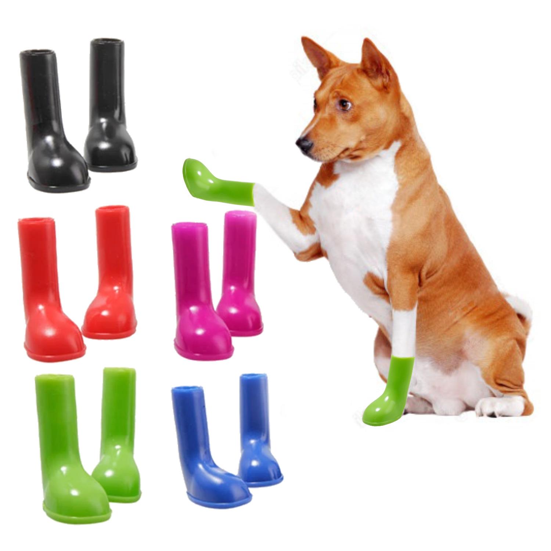 Zapatos Botas Para Lluvia Perro Y Gato Silicón Impermeable