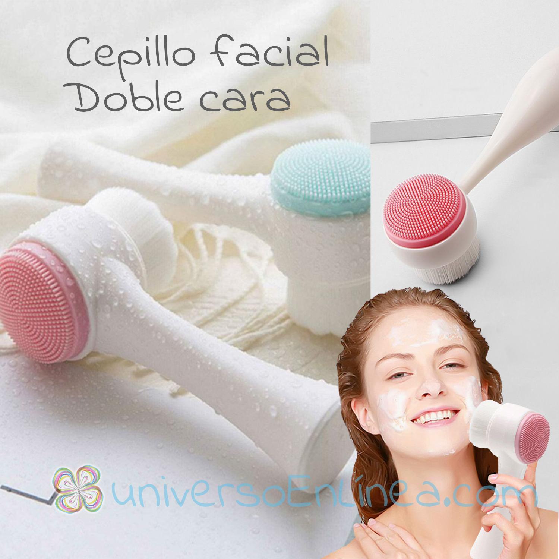 Cepillo Para Limpieza Facial Con Doble Cara Manual Exfoliante