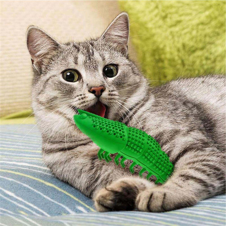Cepillo De Dientes De Silicón Para Gato En Forma De Camarón