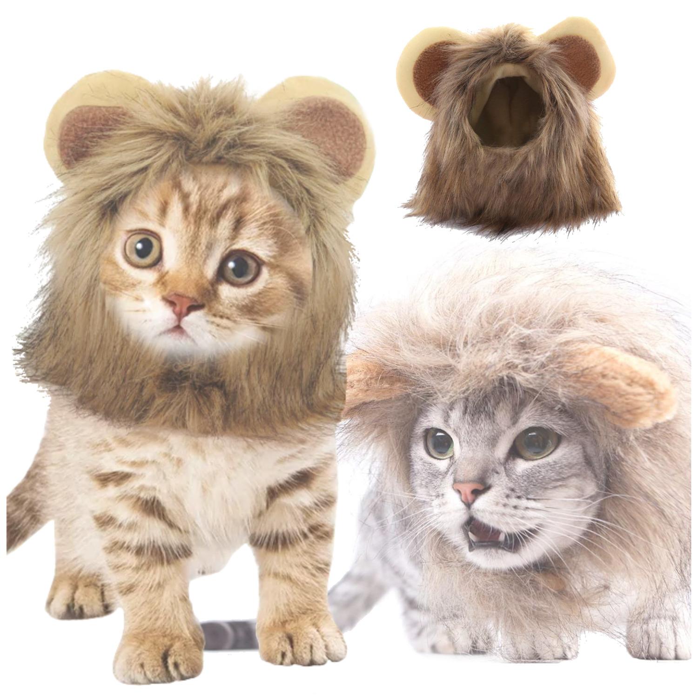 Melena Para Gato Tipo León Divertido Disfraz