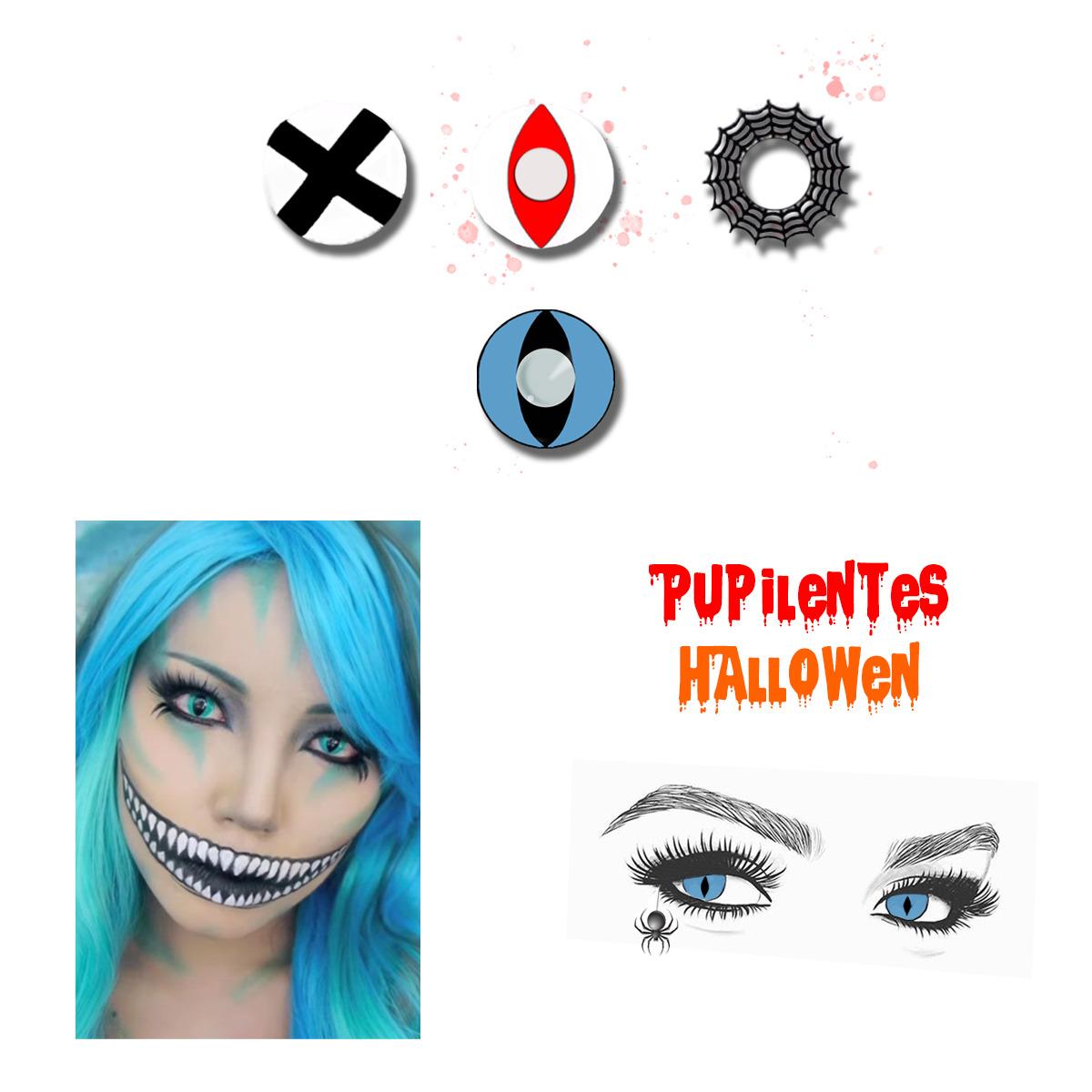 Pupilentes Halloween Personajes De Cosplay
