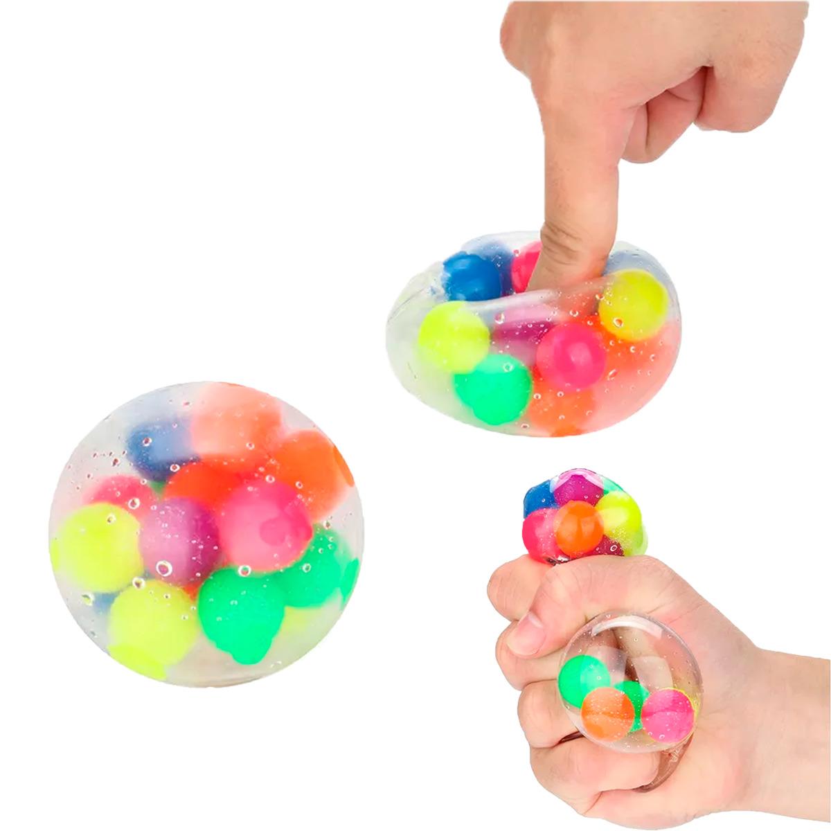 Bola Anti Estrés Fidget Juguetes Bolas Arcoíris Apretar 1p