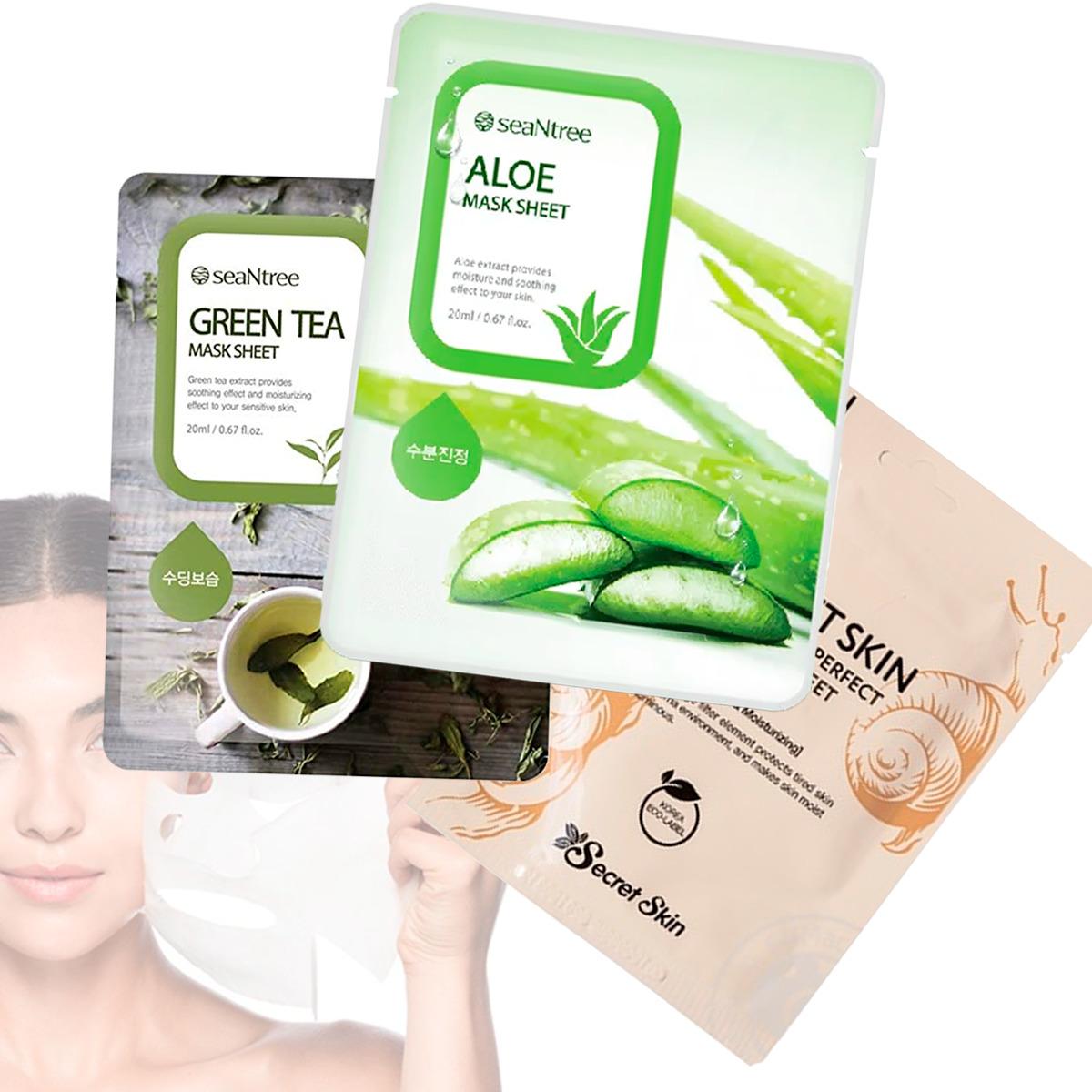 Mascarilla Hidratante Mask Sheet Seantree Antiarrugas