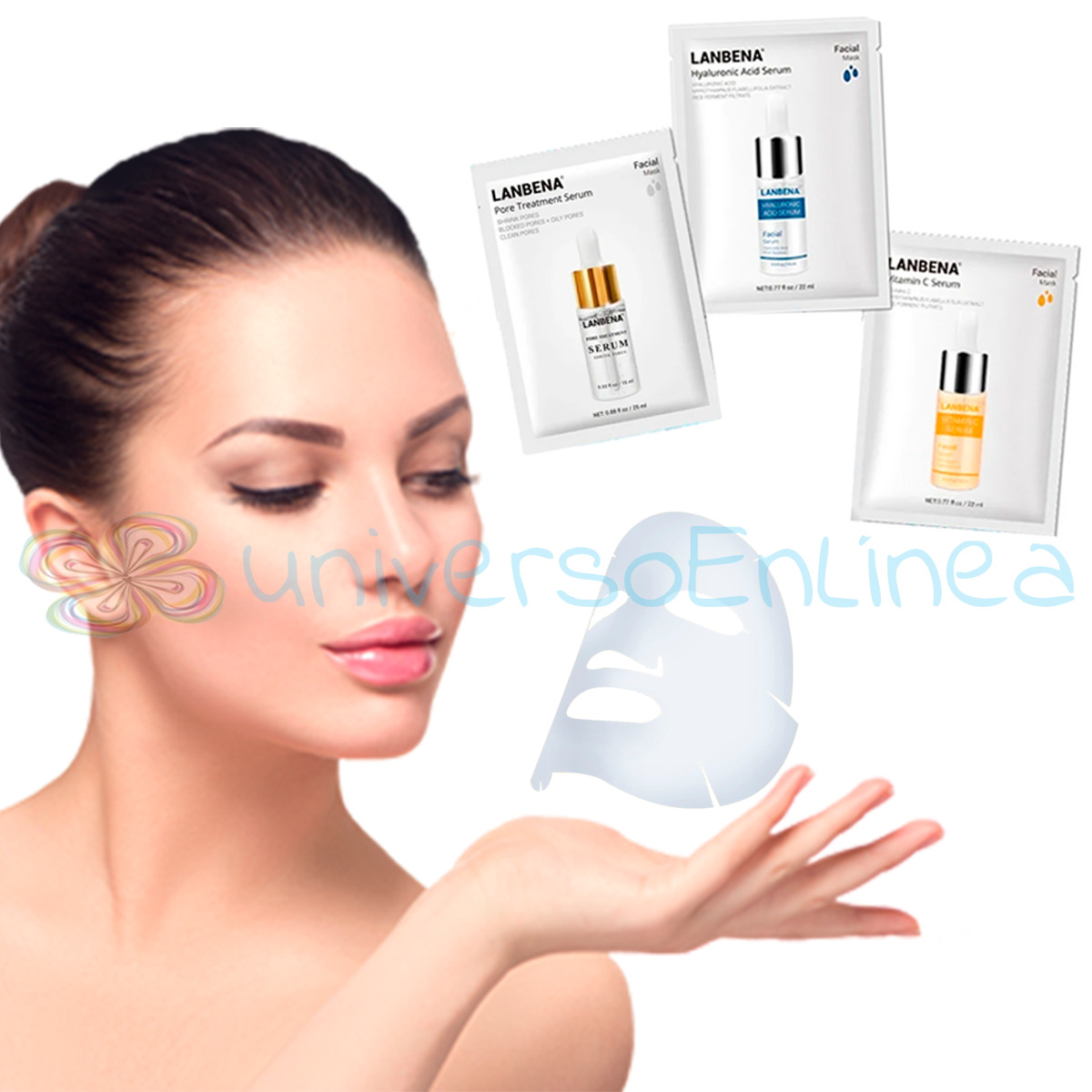 Paquete Lanbena Facial Mask Serum 3pzs