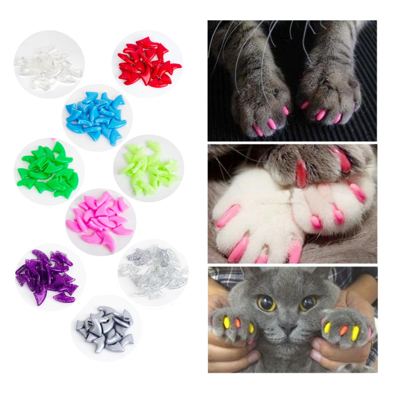 Protector De Uñas Para Gato De Colores Divertidos Mascotas